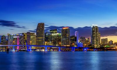 Wall Mural - Miami city by night
