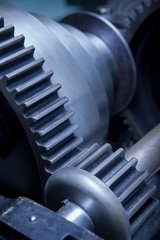 Industry Gear Machine Cog, business cooperation, teamwork and ti