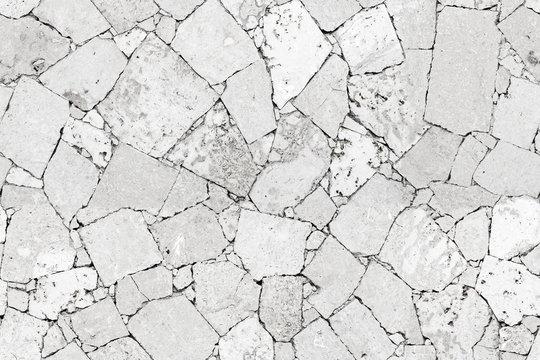 White stone wall detailed seamless background texture