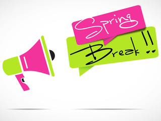 megaphone : spring break