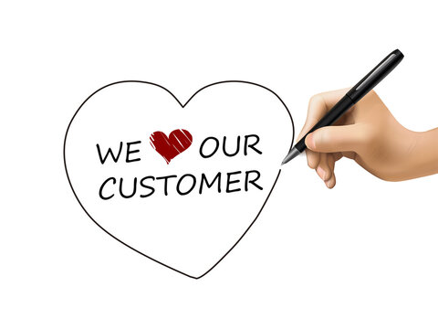 we love our customer written by 3d hand