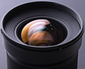 Closeup of camera lens