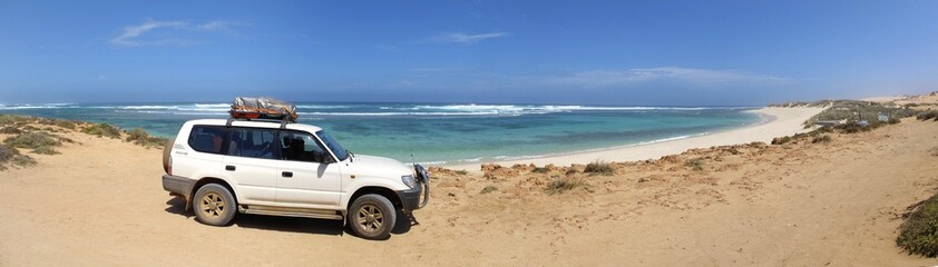 Coast at Gnaraloo Station, West Australia - Panorama