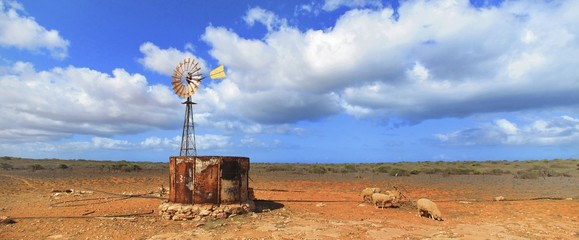 wind wheel at Gnaraloo Station, West Australia