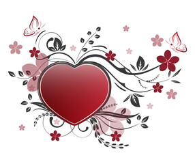 Valentines day background with floral pattern