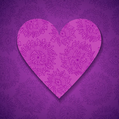 Hand drawn paper heart
