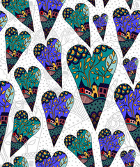Romantic seamless patterns. Valentine's day textures