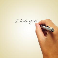 I love you, with a retro effect