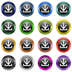 Download Button Metallic  #150128-03