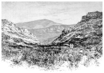 Victorian engraving of a Greek landscape