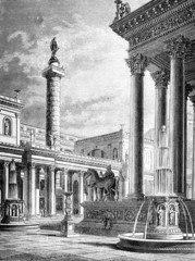 Victorian engraving of the Roman Forum