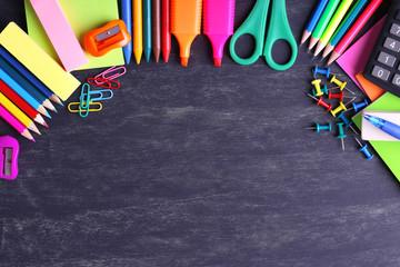 School supplies close-up