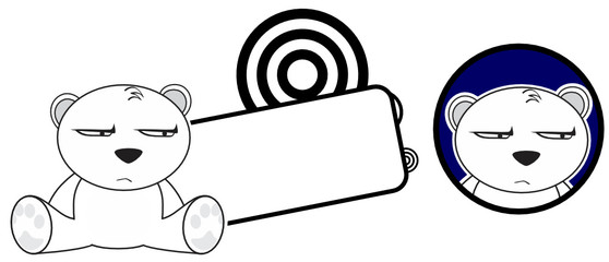 cute baby polar bear copyspace2