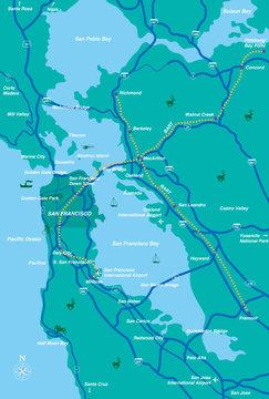 サンフランシスコ近郊地図