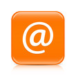 Orange email button icon with reflection
