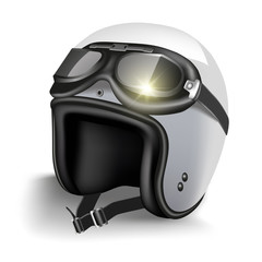Helmet with goggles