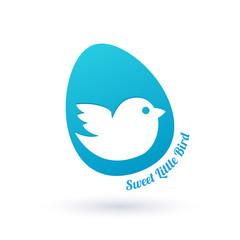 Little bird in egg sign.