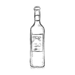 Vector Single Sketch Bottle