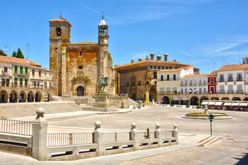 Plaza Mayor de Trujillo, Pizarro, iglesia de San Martín, Cáceres