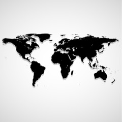 Map Landmass icon great for any use. Vector EPS10.