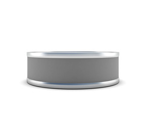 Closed tin can front view