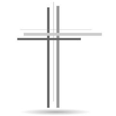 Vector illustration of a cross.