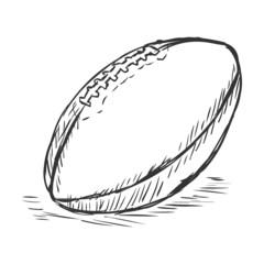Vector Single Sketch American Football Ball