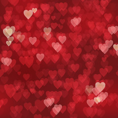 HEARTS Background (lights texture valentine's day)