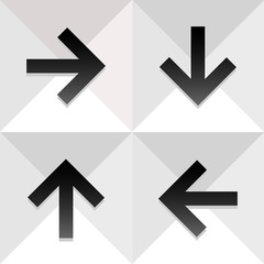Arrow icons set great for any use. Vector EPS10.
