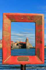 Collioure - Port - Cadre photo