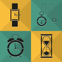 Time icons set great for any use. Vector EPS10.