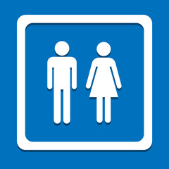 Toilet man and woman icon great for any use. Vector EPS10.