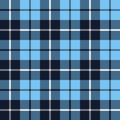 blue  tartan fabric texture in a square pattern seamless