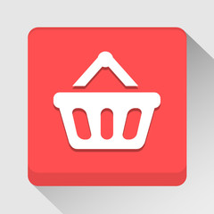 Shopping basket icon great for any use. Vector EPS10.