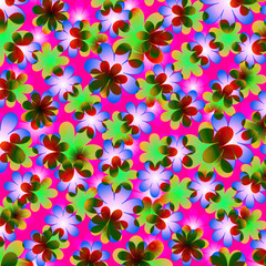 Seamless floral patterns daisy.