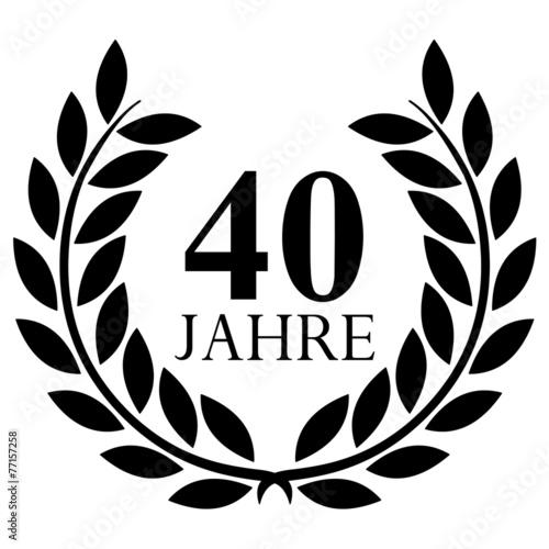 Lorbeerkranz 40 Jahre Jubilaum Stockfotos Und Lizenzfreie Vektoren