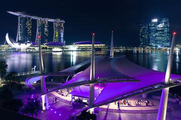 Esplanade open scene on the waterfront, Singapore