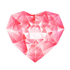 Diamond heart for your design.