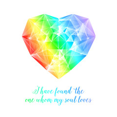 Rainbow stone heart.