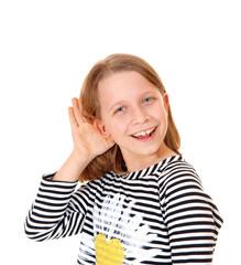 Girl can't hear.