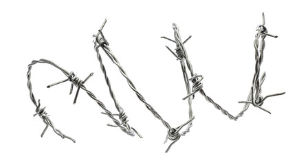 Barbed wire isolated on a white background