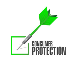 consumer protection dart check mark illustration