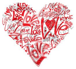 Love heart. Conceptual symbol.