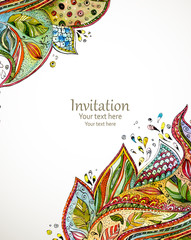 invitation card with fashion beautiful pattern for your business