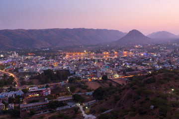 Sunset in Pushkar City, India