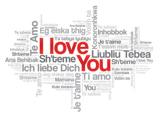 """Love words """"I love you"""" in all languages of the world"""