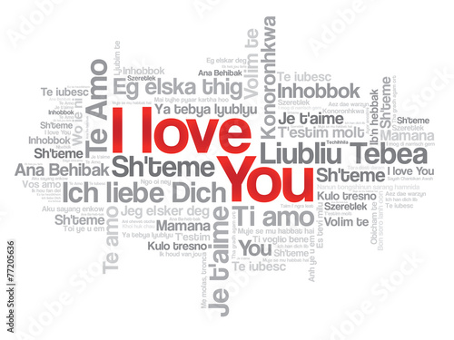 Love Words I Love You In All Languages Of The World Stock Image - All languages in the world