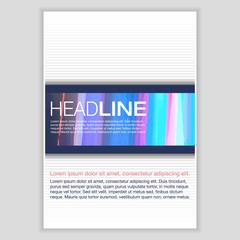 Brochure Template Design. Vector Flyer, Pamphlet, Leaflet.