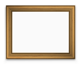 picture gold vintage frame with  transparent shadow, vector