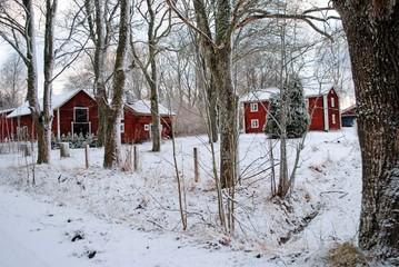 Bauernhof im Wald